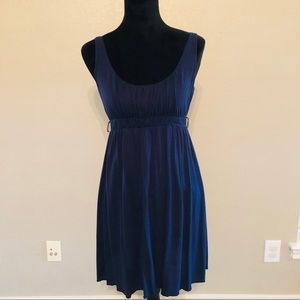 Anthropologie navy blue dress